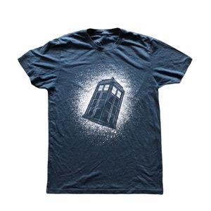 Doctor Who Navy Blue Tardis T-Shirt